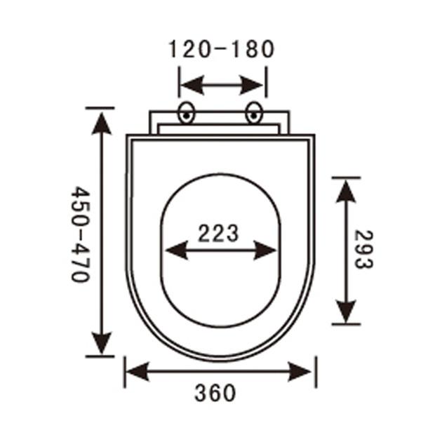PP Toilet Seat YX-1049