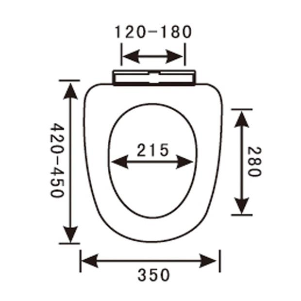 PP Toilet Seat YX-1040