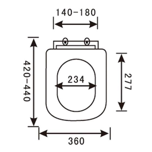 PP Toilet Seat YX-1003