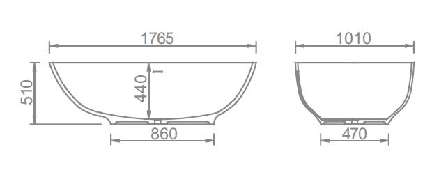 Solid Surface Bath YX-B033