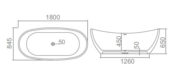 Solid Surface Bath YX-B034