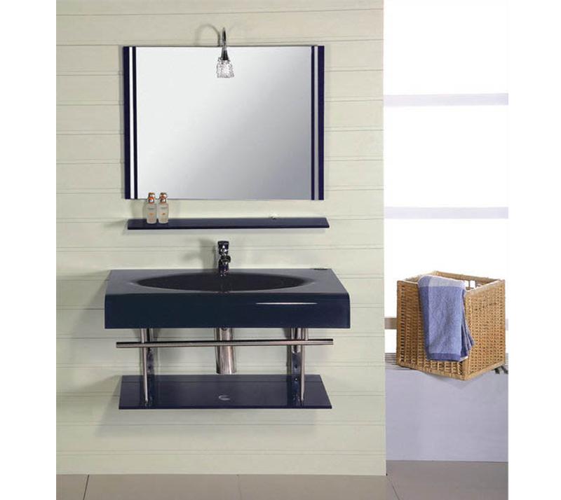 Glass Basin Bathroom Cabinet