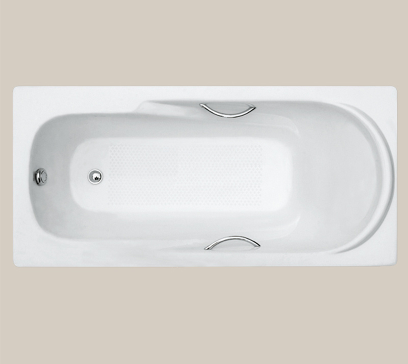 Casting pillow Drop In Cast Iron Bathtub YX-109