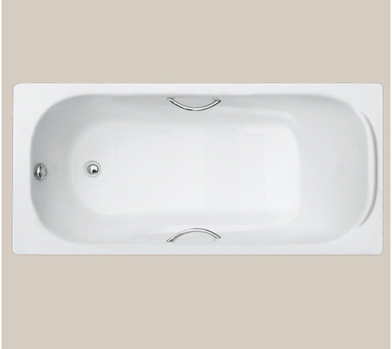 Casting pillow Drop In Cast Iron Bathtub YX-110 1700×800×420mm