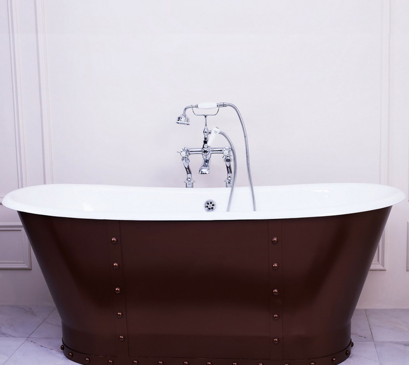 Cast Iron Bathtub with steel skirt YX-003