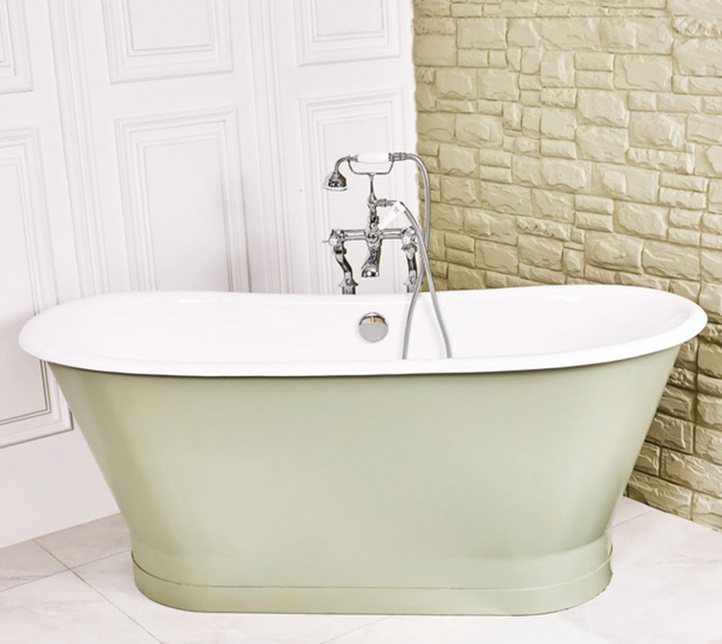 Cast Iron Bathtub with steel skirt YX-004