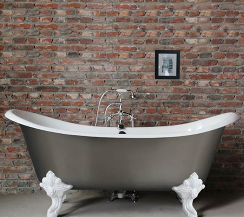 Double Slipper Cast Iron Bath tub YX-008