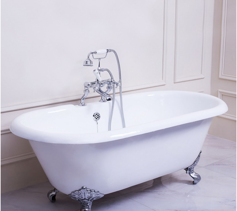 Double ended Cast Iron Bathtub with faucet hole YX-011