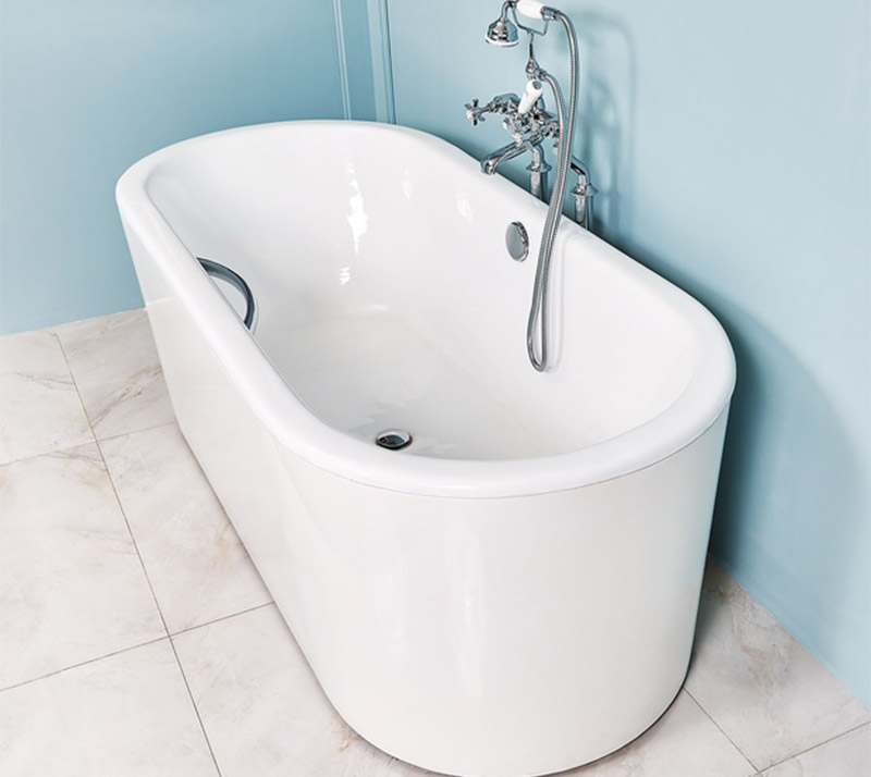 Double ended flat edge Cast Iron Bathtub YX-012