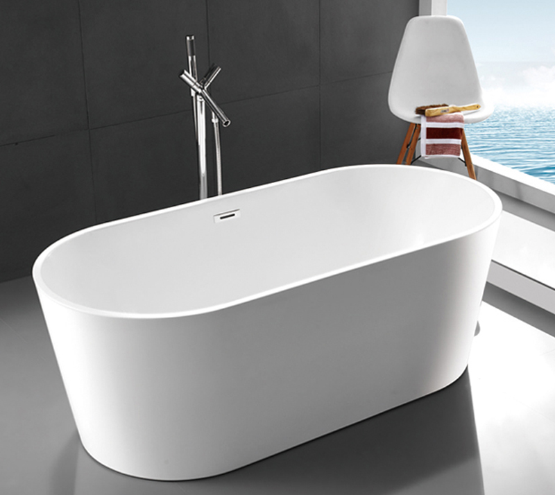 Compact Acrylic Free Standing Bathtub 1 Person Capacity 2 Years Warranty YX-715B