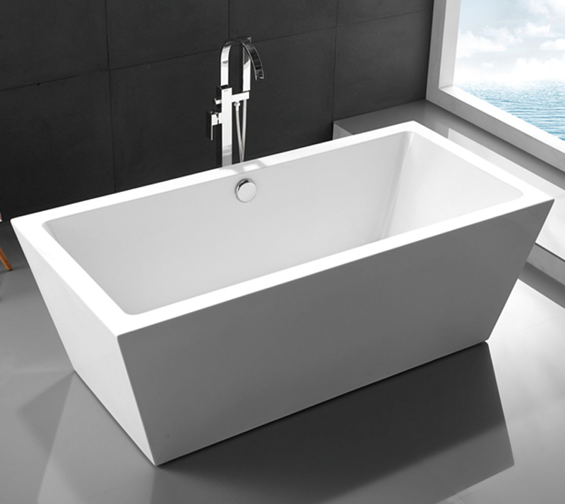 Contemporary Acrylic Free Standing Bathtub PMMA Material 1700 * 800 * 600mm YX-719K