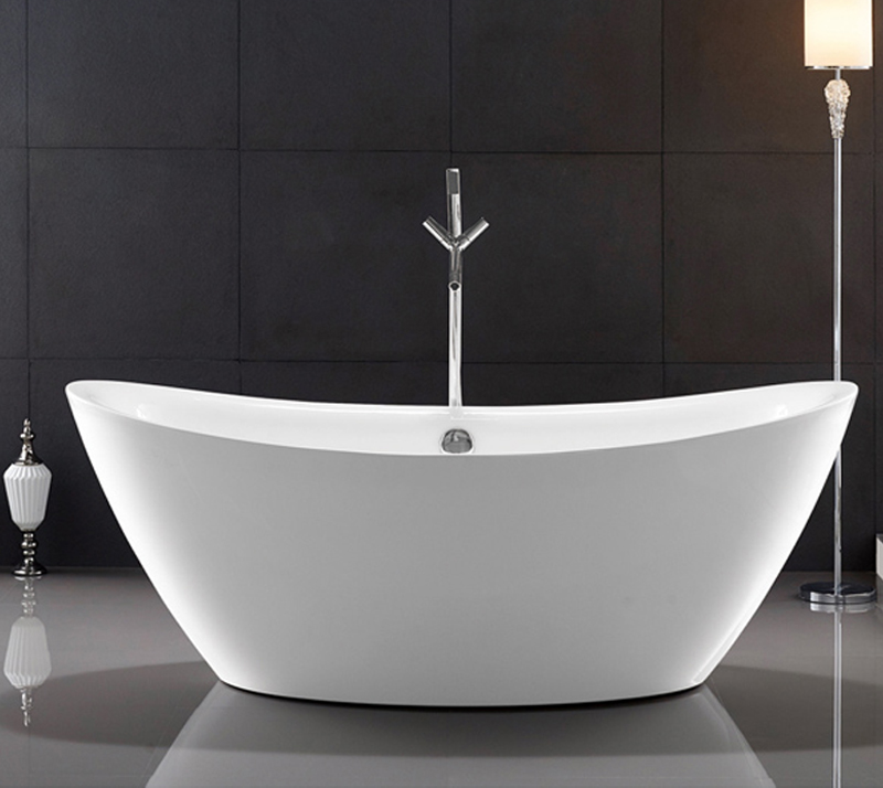 Traditional Large Oval Freestanding Tub Deep Soaking With Gloss Surface YX-723