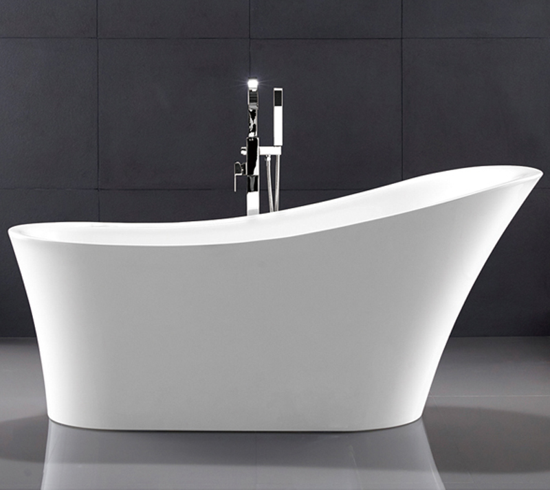1 Person Elegant Acrylic Free Standing Bathtub Oval Soaking Tub Multiple Colors YX-729