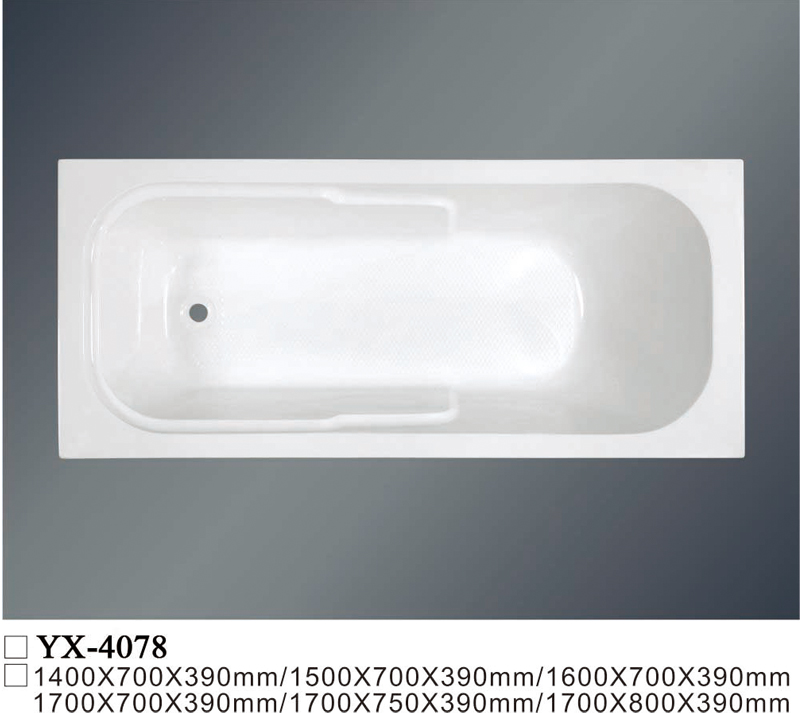 Drop-In Acrylic Bathtub YX-4078