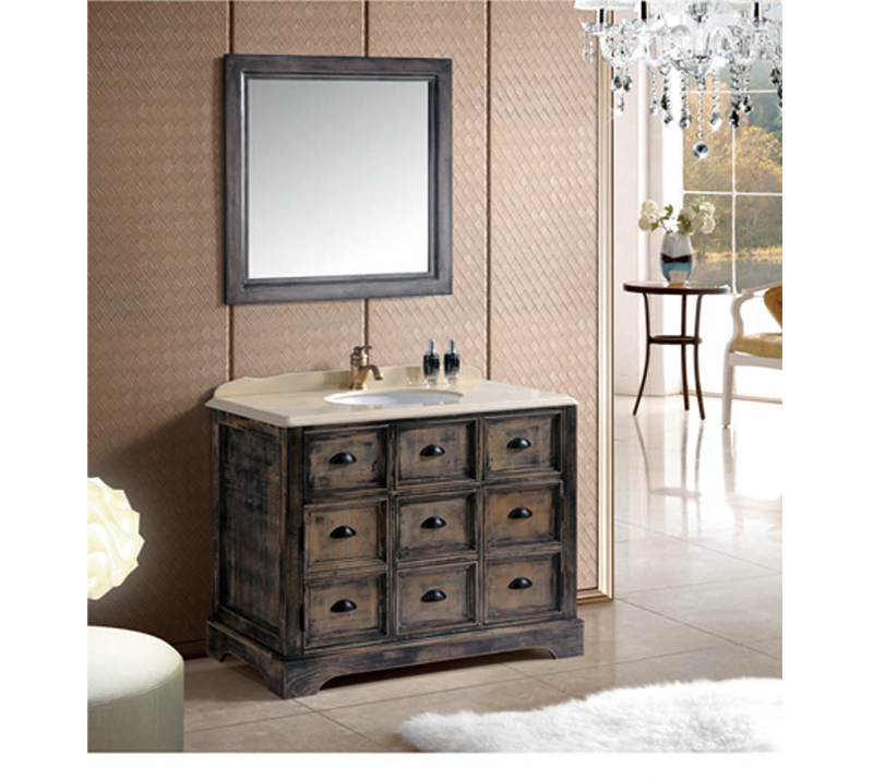 How Is The Solid Wood Bathroom Cabinet Waterproof And Moistureproof?