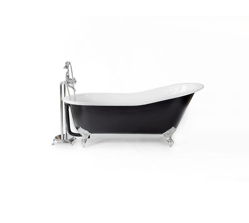 Flat rim slipper cast Iron bathtub YX-001
